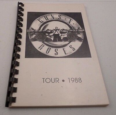 Guns & Roses RARE EARLY 1988 Appetite For Destruction Tour Itinerary Book #2