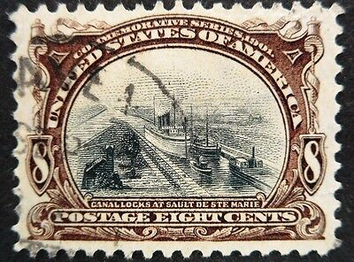 U.S.Stamp:Scott#298, 8c, Violet & Blk, The Pan-American Exposition issue of 1901