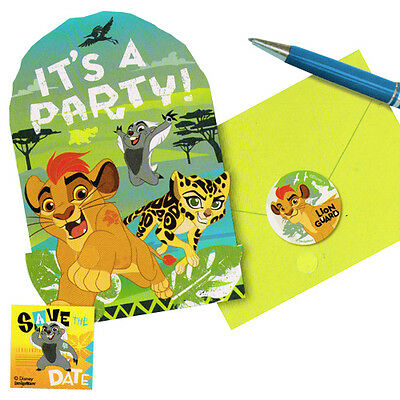 LION GUARD INVITATIONS 8 Birthday Party Supplies Invites Stationery Notes