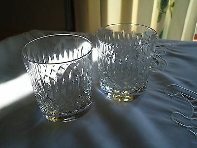 Pair Of Signed Edinburgh Crystal Whisky Glasses -Appin Pattern