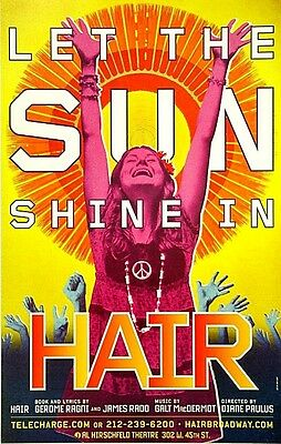 Hair Broadway Window Card -