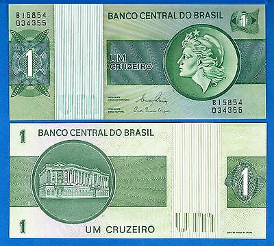 Brazil P-191A 1 Cruzeiros Year ND 1970-1972 Uncirculated Banknote
