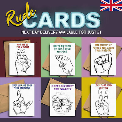 You are a cnt funny rude card offensive shock gag greeting card funny rude cards silly fun offensive hand sign greeting cards large m4hsunfo