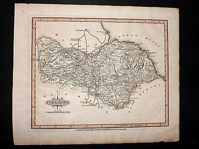 Laurie & Whittle 1807 Antique Hand Col Map. North Riding of Yorkshire