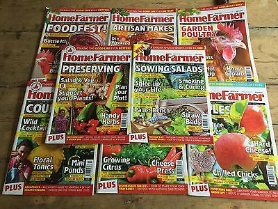 8 Issues Of Home Farmer Magazine.   May - December 2015 Self Sufficiency