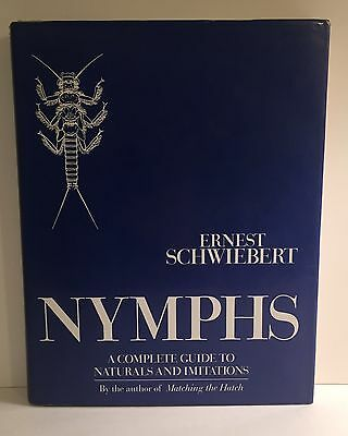Nymphs by Ernest Schwiebert SIGNED First ed Fly Fishing Naturals Imitations