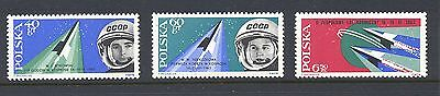 Poland 1963 SG 1402-4 Manned Team Space Flight  MNH