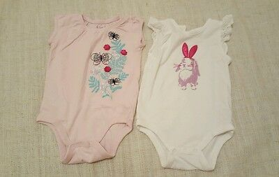 Baby Girl Vests 6-12 Months By Gap��������