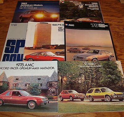 Original 1973-1983 American Motors Sales Brochure Lot of 12 AMC 74 75 76 77 78