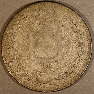 AH 1326 Afghanistan 5 Rupees Circulated Silver        ** FREE U.S SHIPPING **