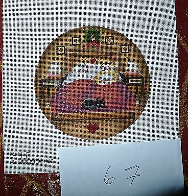 #67 Melissa Shirley Hand-painted Needlepoint Canvas Ornament/Christmas, great