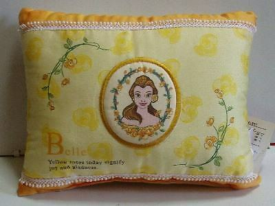 HTF Japan Disney Beauty and the Beast Belle Embroidered Mini Decor Pillow