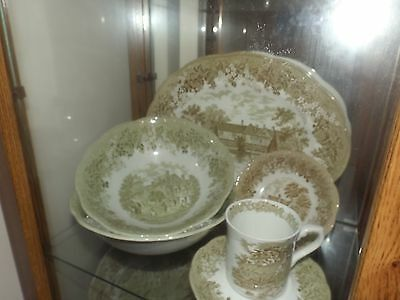 M & G MEAKIN ROMANTIC ENGLAND 8 place settings and extras!!!