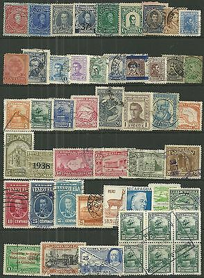 CENTRAL & SOUTH AMERICA A collection of (50) stamps
