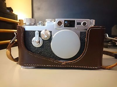 Leica IIIg body - Exc+ with ER leather case