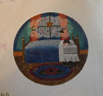 #76 Melissa Shirley Hand-painted Needlepoint Canvas Ornament/Christmas, great