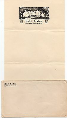 1920s Advertising Letterhead & Cover from the Hotel Benbow Garberville CA