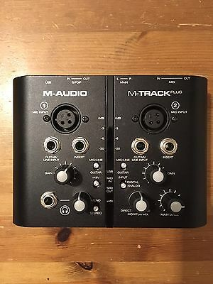M-Audio M-Track Plus - Audio/MIDI Interface - 2 Channels- Digital I/O