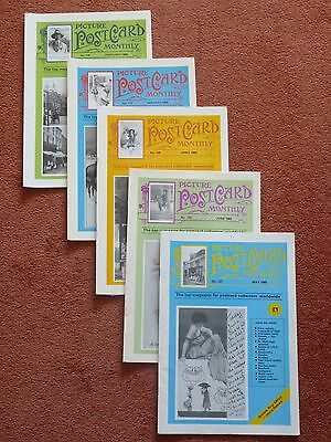 5 X Picture Postcard Magazines