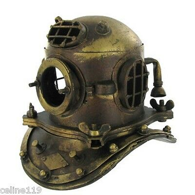 NAUTICAL DECOR  Scuba Mini Diving Divers Helmet US Navy Mark V Solid Steel NEW!!