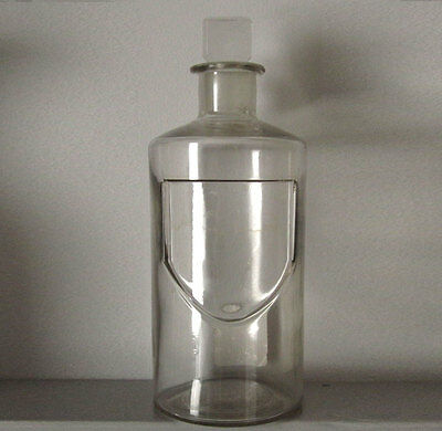 E S & Co. 1870s GLASS APOTHECARY BOTTLE / JAR -  American, chemist, Victorian
