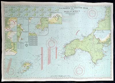 Vintage IMRAY CHART -  FALMOUTH to TRAVOSE HEAD 1979