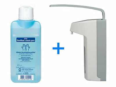 500 ml Wandspender Eurospender Medi-Inn + 500 ml Sterillium pure Top Ware