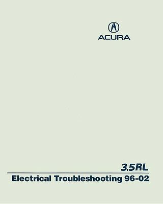 1998 1999 2000 2001 2002 Acura 3.5RL Electrical Troubleshooting Diagnosis Manual
