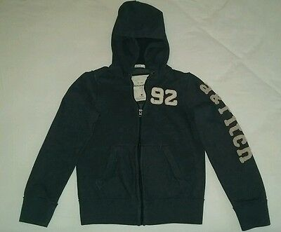 Kids MD Abercrombie & Fitch Navy Zip-Up Hoodie L@@K!!!