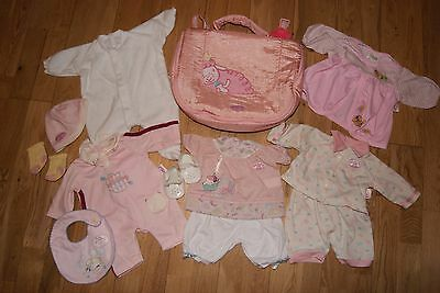 **pretty** Zapf Baby Annabell Dolls Bundle ~ Clothes, Shoes, Changing Bag