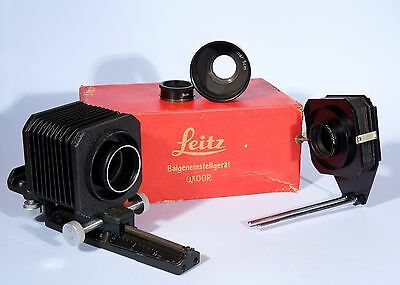 Leica Leitz Bellows UXOOR 16555 + UZEOO Slide Copier + Elmar 5cm Ring + 9cm Ring