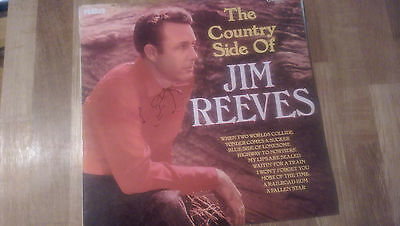 The Country Side of Jim Reeves record. 1969 LP on RCA Records. Vinyl record