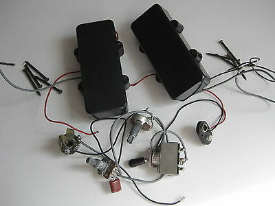 Set of Washburn Bass Guitar Active Pickups Harness for Your Project Repair