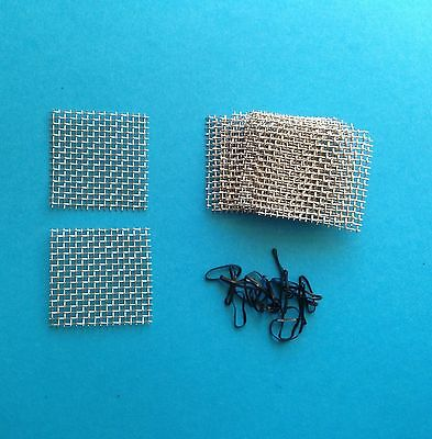 12 Pads 4cm X 4cm Aquarium Fish Tank Plants Moss 316 Stainless Steel Wire Mesh