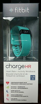 Brand New Sealed Fitbit Charge HR Activity Tracker with Heart Rate Teal Large