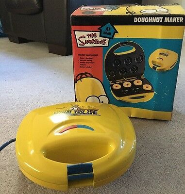 New Simpsons 6 Hole Electric Doughnut Maker Donut Snack Machine