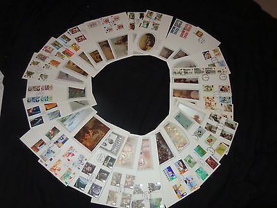 25 1st First Day Covers Stamps FDC SOTHEBYs COLLECTION  SILK ISSUE 1984  Lot LO