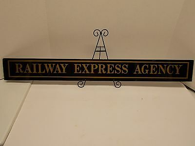 Reverse-Painted Glass RAILWAY EXPRESS AGENCY Sign