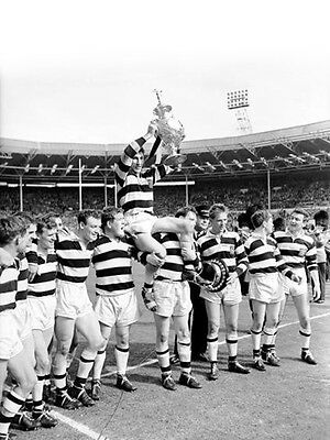 RL-044 : 8x6 PHOTO - WIDNES 1964 CHALLENGE CUP WINNERS