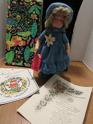 "Lenci 14"" Felt Girl  Doll Torino Italy  Franca W/Box & COA So Cute 1985"