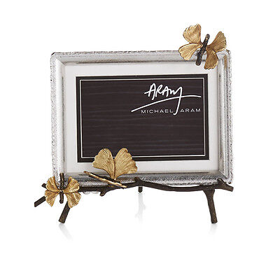 Michael Aram Butterfly Ginkgo Easel Frame #175758 NIB Home Decor Picture Photo