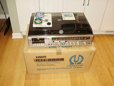 Vintage Pioneer Kh-8855 Turntable - Cassette - Fm/mw/sw Compact Stereo System