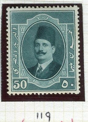 EGYPT;  1923-4 early King Faud issue 50m. fine Mint hinged value,