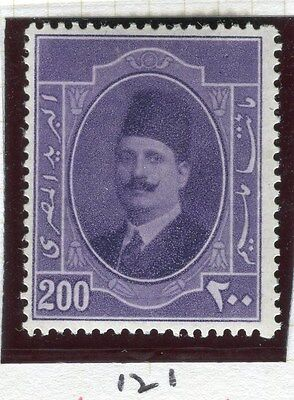 EGYPT;  1923-4 early King Faud issue 200m. fine Mint hinged value,