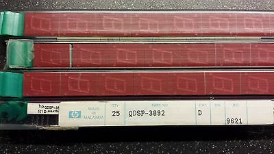 HP QDSP-3892 Red Common Anode Seven Segment Displays 4 x 25 tubes, 100 total