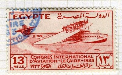 EGYPT;  1933 Aviation Congress Cairo fine used 13m. value