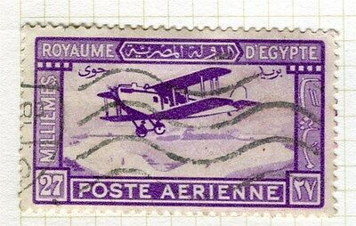 EGYPT;   1926 early AIR issue fine used 27m. value