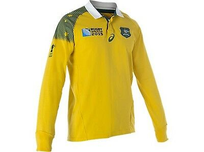 BNWT asics Australia Wallabies Rugby World Cup Fans Jersey Long Sleeve Shirt S
