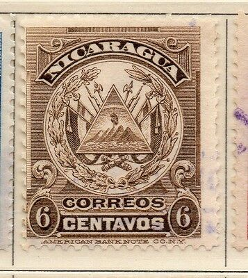 Nicaragua 1909 Early Issue Fine Used 6c. 110921