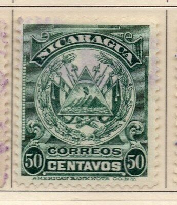 Nicaragua 1909 Early Issue Fine Used 50c. 110925